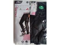 ladies cycling leggings black x2 ,size uk 8-10/ 10-12