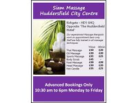 Thai, Sports & Hot Oil Massage - Huddersfield City Centre, Appointment only.