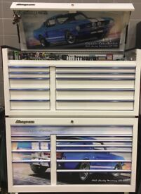 Snap-On Roll Cab and Top Box Tool Box and Cover