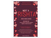 Meet a Rishta. Single Muslim Rishta Service for Professionals UK 2017. Family Involvement Welcome