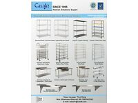 Many style of wire shelving for option