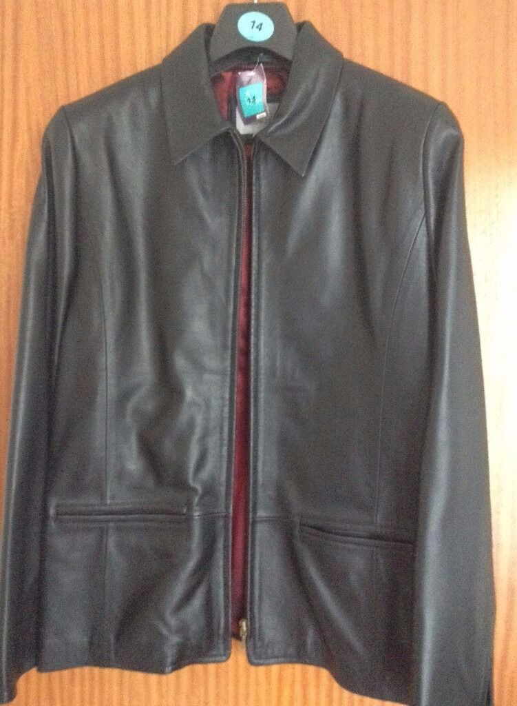 Womens Black Leather Jacket Size 14 BNWTin Cheltenham, GloucestershireGumtree - Black Leather Jacket. 100% Genuine Leather. Size 14. Zip Fastening. Lined. NEW with Tags. Item comes from a smoke & pet free home. Asking price only. If you email me with any questions please check your spam folder for a reply. Due to the amount of...