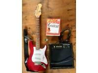 3/4 electric guitar