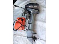 Outboard mariner 8 Hp long shaft in mint mechanical order