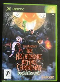 Xbox original. The nightmare before Christmas game.