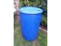 Blue Plastic Barrel Drum Container 205 litre