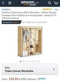 Triple canvas effect wardrobe
