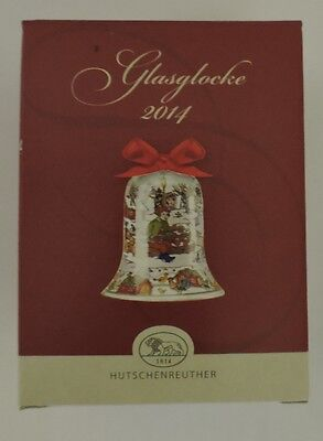 Hutschenreuther Weihnachten Kristallglocke Glasglocke 2014 Waldweihnacht