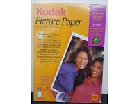 Sealed Kodak Inkjet Picture Paper Glossy A4 (210mm x x297mm) 75 Sheets