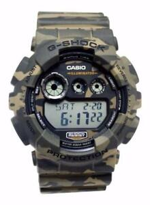 Casio GD120CM-5 G-Shock Brown Green Camouflage Digi Dial Resin Men Watch