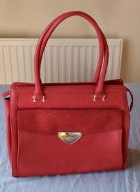 Jones Bootmaker Red Leather Handbag