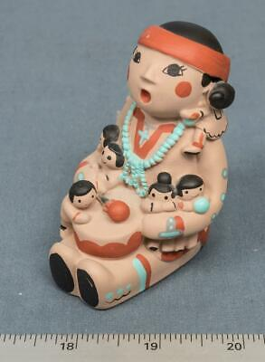 Signed Cleo Teissedre Storyteller Figurine 6 Children Vintage Tucson dq