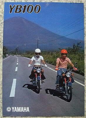 YAMAHA YB100 Motorcycle Sales Brochure c1975 #LIT-032048 50.12x50