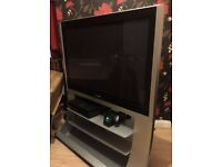 Used panasonic viera 40 inch lcd tv and stand in good condition