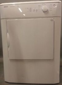 Beko Tumble Dryer DRVS62W/NS1528, 3 month warranty, delivery available in Devon/Cornwall