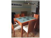 Calligaris dining table with 6 chairs