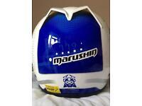 Marushin Biomech Bike Helmet Blue and White
