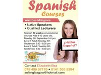 Spanish Courses in Clarkston and Milngavie
