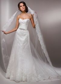 Stunning Maggie Sottero wedding gown and matching veil