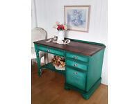 Shabby Chic Beautiful Writing Desk in Annie Sloan,Free Delivery Within 50 miles!