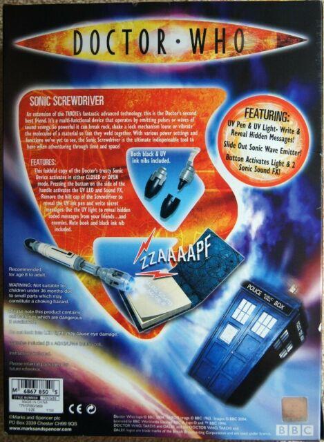 Doctor Who early David Tenant Sonic Screwdriver with ultraviolet Light &  Pen and Sound Effects | in Whiteley, Hampshire | Gumtree