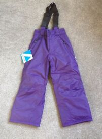 Dare 2b waterproof and breathable purple ski trousers. Age 5-6. BNWT