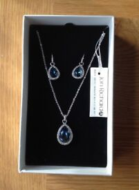 Jon Richard necklace and earrings made with Swarovski elements. BNWT