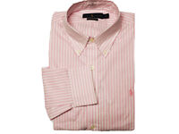 Polo Ralph Lauren Mens Striped long sleeve Shirt Formal HG72