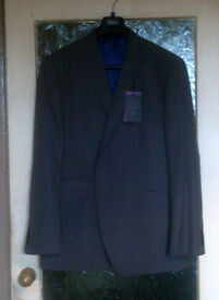 """NEW WITH TAGS GENTS M&S LUXURY GREY TAILORED FIT SUIT JACKET CHEST 50"""" LONGER LENGTH"""