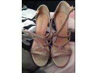Size 4 high heel sandals