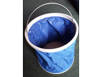 Collapsible bucket in pouch