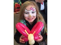 Face painting and balloon modelling - Glasgow and surrounding area