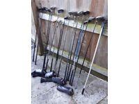 Golf Clubs/Putters Bundle - Inc Yonex, MaxFli, Callaway, MacGregor, Progen.