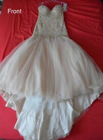 New with tags peach wedding dress