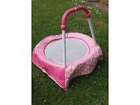 Pink junior trampoline