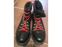 Men's black leather boots
