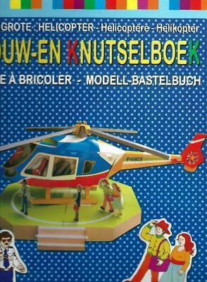 Älteres Modell-Bastelbuch Großer Helikopter Hubschrauber Aus den Niederlanden!