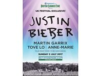 3 Justin Bieber Tickets Hyde Park