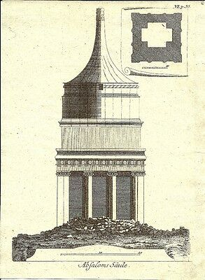Antique engraving, Absoloms saule P VI