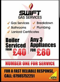 GAS SERVICE (Boilers, cookers etc) & REPAIR PLUMBING AND MAINTENANCE (taps,toilets etc)