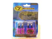 HIGH-INTENSITY PURPLE LIGHTING LEDs - PACK OF 4