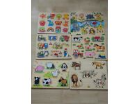 Set of six Wooden Jigsaw Puzzles
