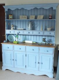 Large Country Solid Pine Shabby Chic Farmhouse Dresser Loads of Kitchen Storage