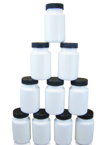 10 Empty Plastic HDPE 90cc Plastic Pill Bottles Containers For Vitamin Capsules