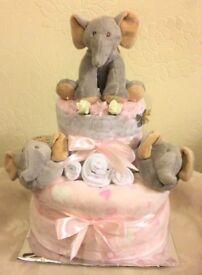 Nappy Cake - ELephant Two TIer Nappy Cake