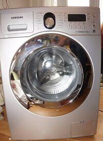 Samsung Silver Ecocbubble Washing Machine WF1804WPU2 - Used Very Good Condition