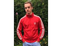 Adidas Originals Vintage Red Firebird Zipped Jacket (Medium)