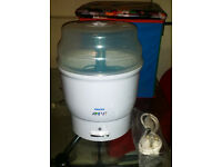 Philips Avent Express Electric Steam Baby Bottle Steriliser Never Used -no box