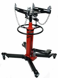 1100 LB 2 Stage Hydraulic Transmission Jack w/ 360° Swivel Wheels Lift Hoist 191017