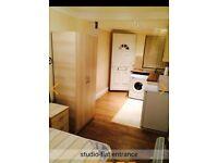 New, modern + fully furnished 1 bedroom studio flat.